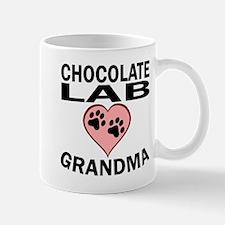 Chocolate Lab Grandma Mugs