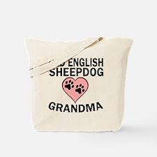 Old English Sheepdog Grandma Tote Bag