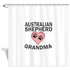 Australian Shepherd Grandma Shower Curtain