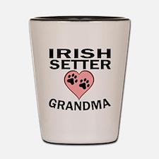 Irish Setter Grandma Shot Glass