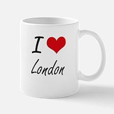I Love London artistic design Mugs