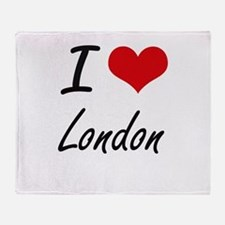 I Love London artistic design Throw Blanket