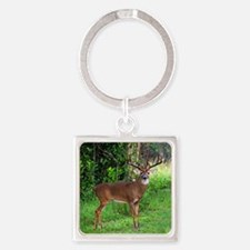 Unique Deer hunting Square Keychain