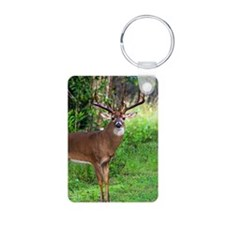 Cute Deer hunting Aluminum Photo Keychain