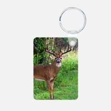 Unique Deer hunting Aluminum Photo Keychain