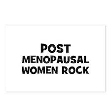 Post Menopausal Women Rock Postcards (Package of 8