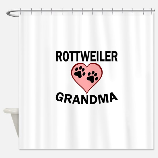 Rottweiler Grandma Shower Curtain