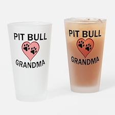 Pit Bull Grandma Drinking Glass