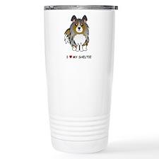 Cute Shetland sheepdog Travel Mug