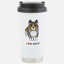 Funny Australian shepherd dog blue merle Travel Mug