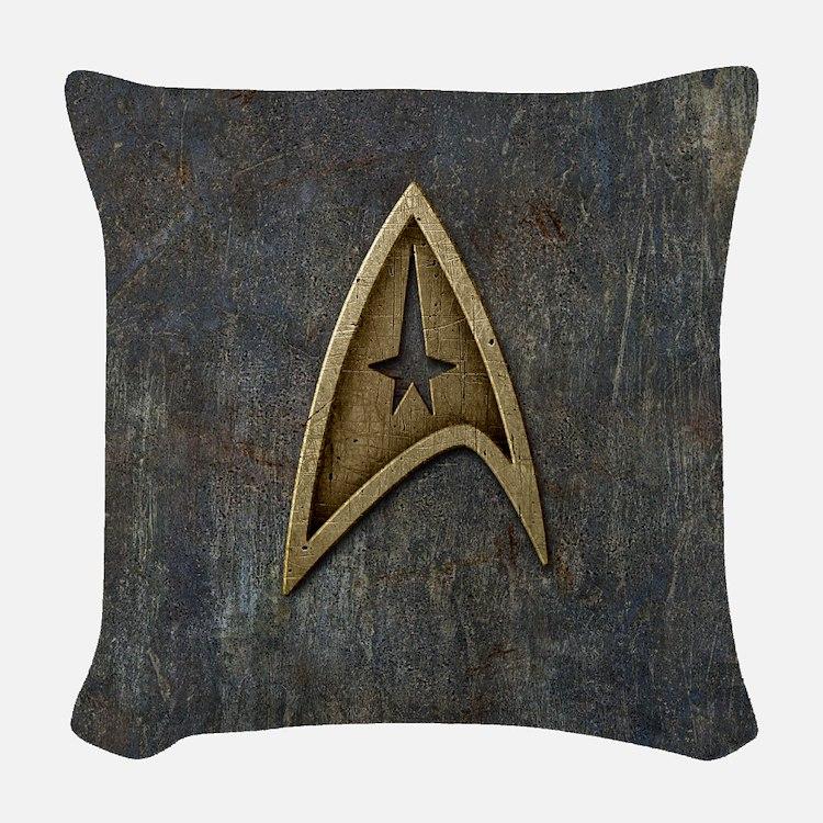 Star Trek Insignia Grunge Woven Throw Pillow