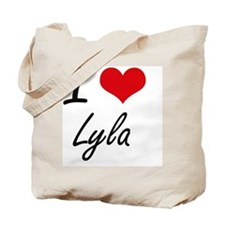 I Love Lyla artistic design Tote Bag