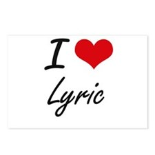 I Love Lyric artistic des Postcards (Package of 8)