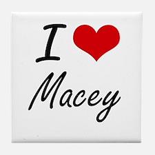 I Love Macey artistic design Tile Coaster