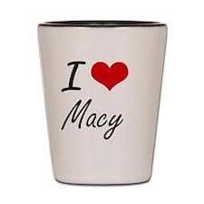 I Love Macy artistic design Shot Glass