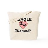 Beagle grandma Canvas Bags