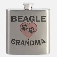 Beagle Grandma Flask