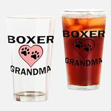Boxer Grandma Drinking Glass