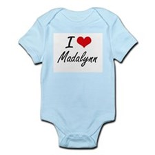 I Love Madalynn artistic design Body Suit