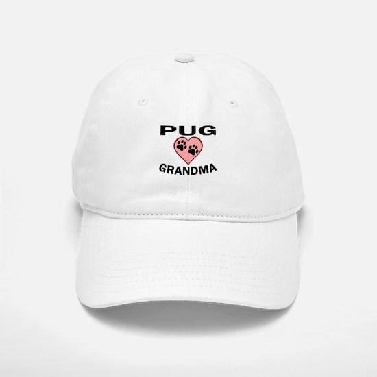 Pug Grandma Baseball Baseball Baseball Cap