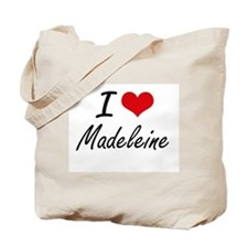 I Love Madeleine artistic design Tote Bag