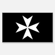 White Maltese Cross Decal
