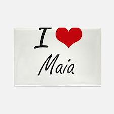 I Love Maia artistic design Magnets