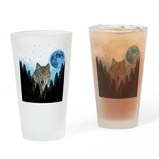 Wolf StarLight Drinking Glass