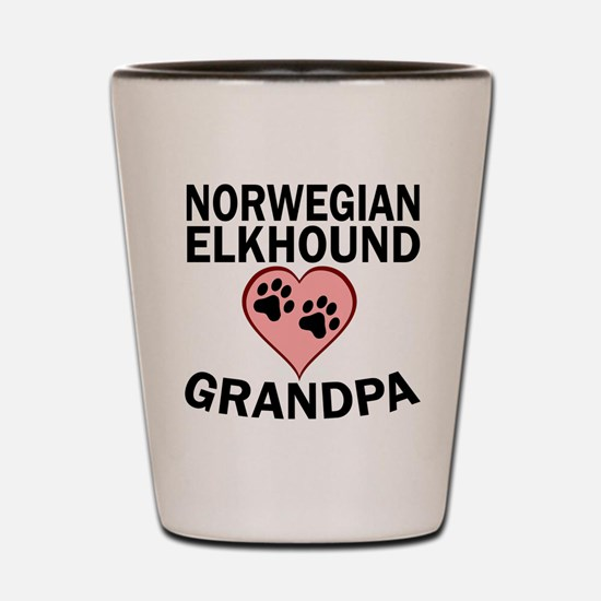 Norwegian Elkhound Grandpa Shot Glass