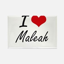 I Love Maleah artistic design Magnets