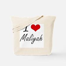 I Love Maliyah artistic design Tote Bag