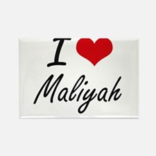 I Love Maliyah artistic design Magnets