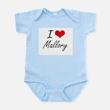 I Love Mallory artistic design Body Suit