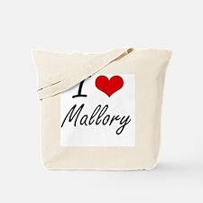 I Love Mallory artistic design Tote Bag