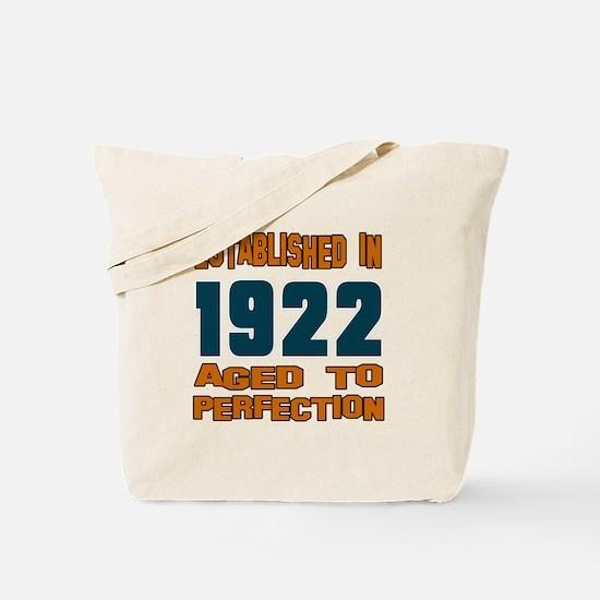 Established In 1922 Tote Bag