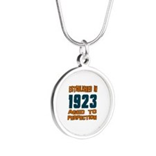 Established In 1923 Silver Round Necklace