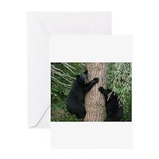 black bears Greeting Card
