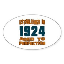 Established In 1924 Decal