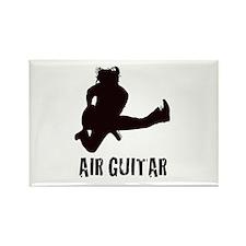 Air Guitar Rectangle Magnet
