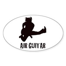 Air Guitar Oval Decal