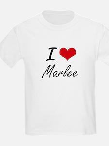I Love Marlee artistic design T-Shirt