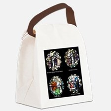 Benedictine Traditions in Stained Canvas Lunch Bag