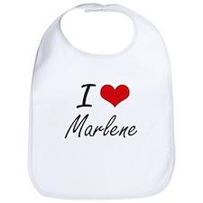 I Love Marlene artistic design Bib