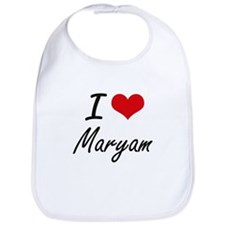 I Love Maryam artistic design Bib