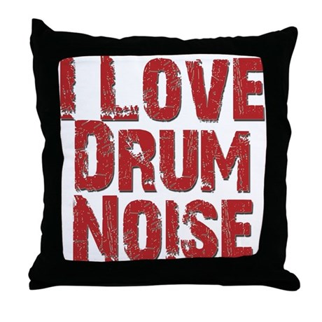 i love drum noise throw pillow