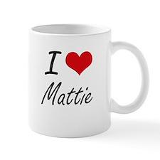 I Love Mattie artistic design Mugs