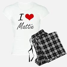 I Love Mattie artistic desi Pajamas