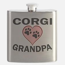 Corgi Grandpa Flask