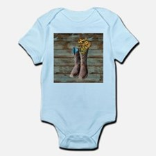 cowboy boots barn wood Body Suit