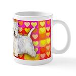 Westie Valentine Hearts Art Mug